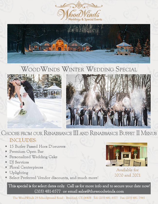 Winter Wedding Specials
